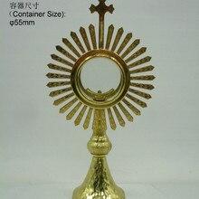 Высокое качество Ostensorium Holy reliquary catol поставляет церковное таинство Изысканная элегантность Monstrance святая коробка Иисуса лорда