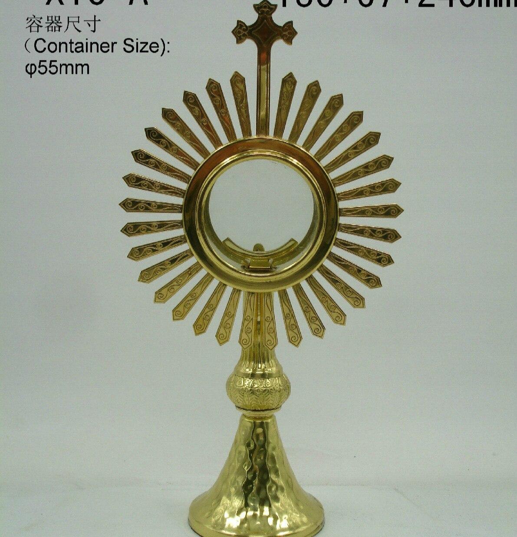 Alta calidad Ostensorium Holy relicary cathologic Supplies Iglesia Sacrament exquisita elegancia Monstrance Holy Box Jesús Señor's