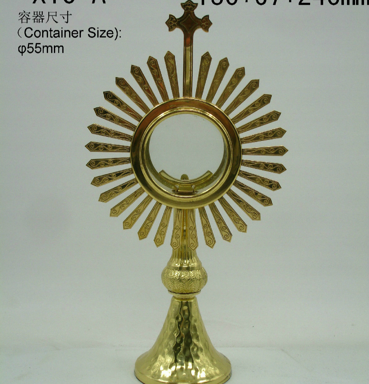High Quality Ostensorium Holy Reliquary Catholic Supplies Church Sacrament Exquisite Elegance Monstrance Holy Box Jesus Lord's