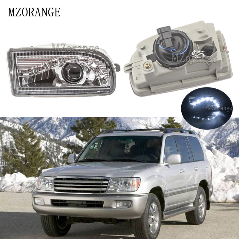 MZORANGE Front Bumper LED Fog Light Driving Lamp Foglights For TOYOTA LAND CRUISER 100 1998 2008