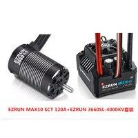 Hobbywing EZRUN MAX10 SCT 120A бесщеточный ESC + 3660 G2 3200KV/4000KV/4600KV датчиков двигателя комплект для 1/10 RC автомобилей Грузовик F19286/8