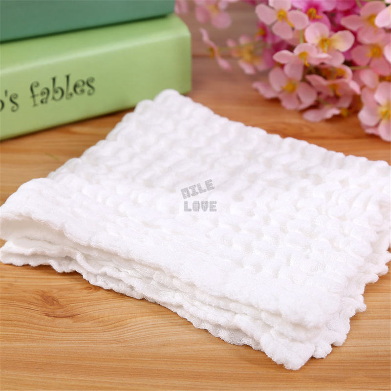 Cotton Baby Gauze muslin Washcloth Baby Wipe Sweat Absorbing baby bibs soft Handkerchief