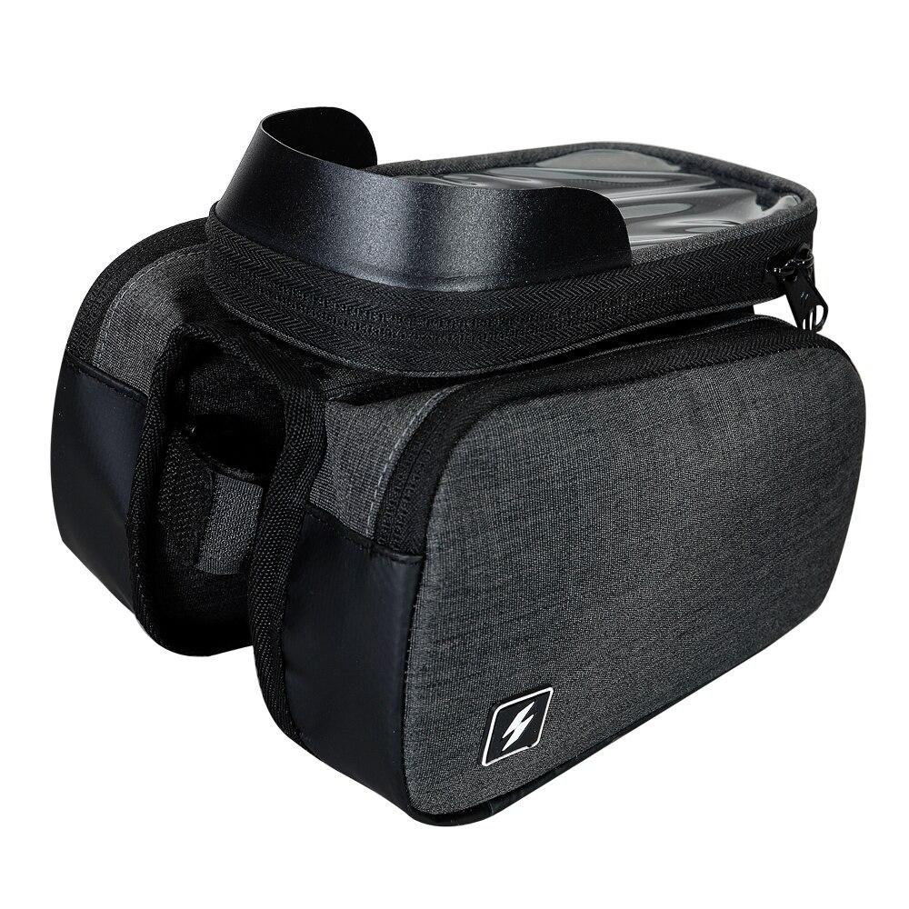 Sahoo 122007 écran tactile vélo 6.5in sac de téléphone portable portable cadre avant Tube supérieur sac de cyclisme Double face vélo sacoche