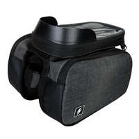 Sahoo 122007 Touch Screen Bike 6.5in Cell Mobile Phone Bag Front Frame Top Tube Cycling Pouch Double Side Bicycle Pannier