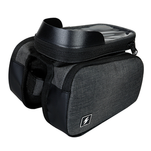 Sahoo 122007 Touch Screen Bike 6.5in Cell Mobile Phone Bag Front Frame Top Tube Cycling Pouch Double Side Bicycle Pannier(China)
