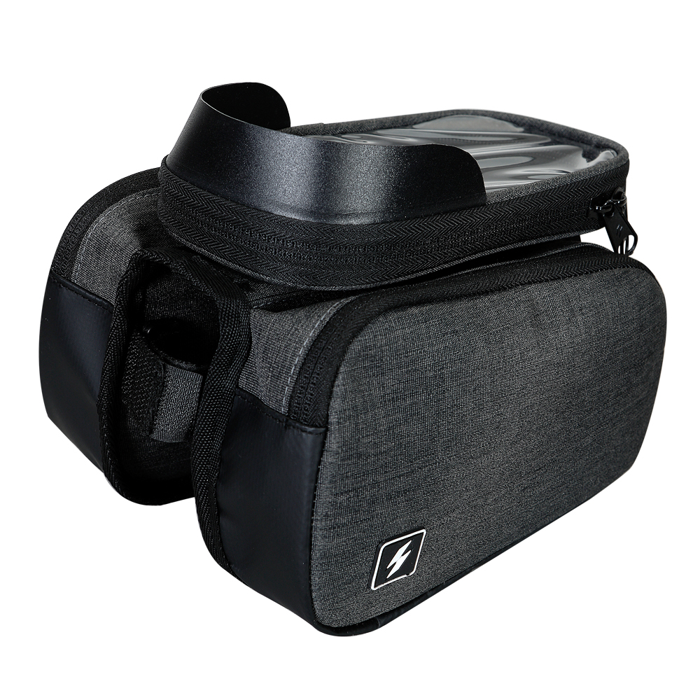 Sahoo 122007 Touch Screen <font><b>Bike</b></font> 6.5in Cell Mobile Phone <font><b>Bag</b></font> Front <font><b>Frame</b></font> Top Tube Cycling Pouch Double Side <font><b>Bicycle</b></font> Pannier image