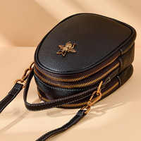 AOEO Womens Shoulder Bag Genuine Leather Small Candy Color Messenger Bag For Girls Handbag Cowhide Fashion Crossbody Bags Female