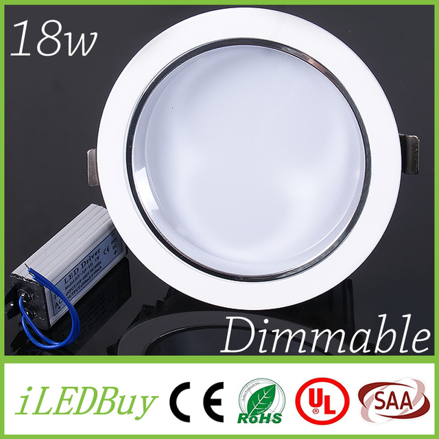 Led downlight cree smd 18w recessed ceiling downlights dimmable led downlight cree smd 18w recessed ceiling downlights dimmable commercial indoor lighting ac110v 220v led mozeypictures Choice Image
