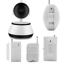 Cámara inteligente de Señal Wifi Inalámbrico PIR/Sensor de La Puerta 433 MHZ Sistema de Alarma de Ladrón del Hogar de Seguridad Kit Detector Sensor Remoto Control