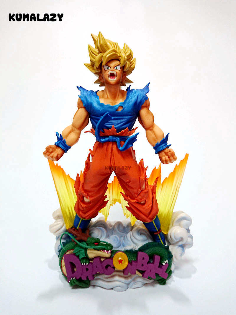 Dragon Ball Figure Son Goku Figure MSP Super Saiyan The Brush Figure PVC 240mm Dragon Ball