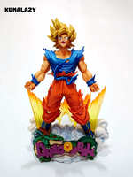 Figura Dragon Ball Goku Figura MSP Super Saiyan El Cepillo figura PVC 240mm Dragon Ball Figura de Acción Z DBZ DragonBall Z