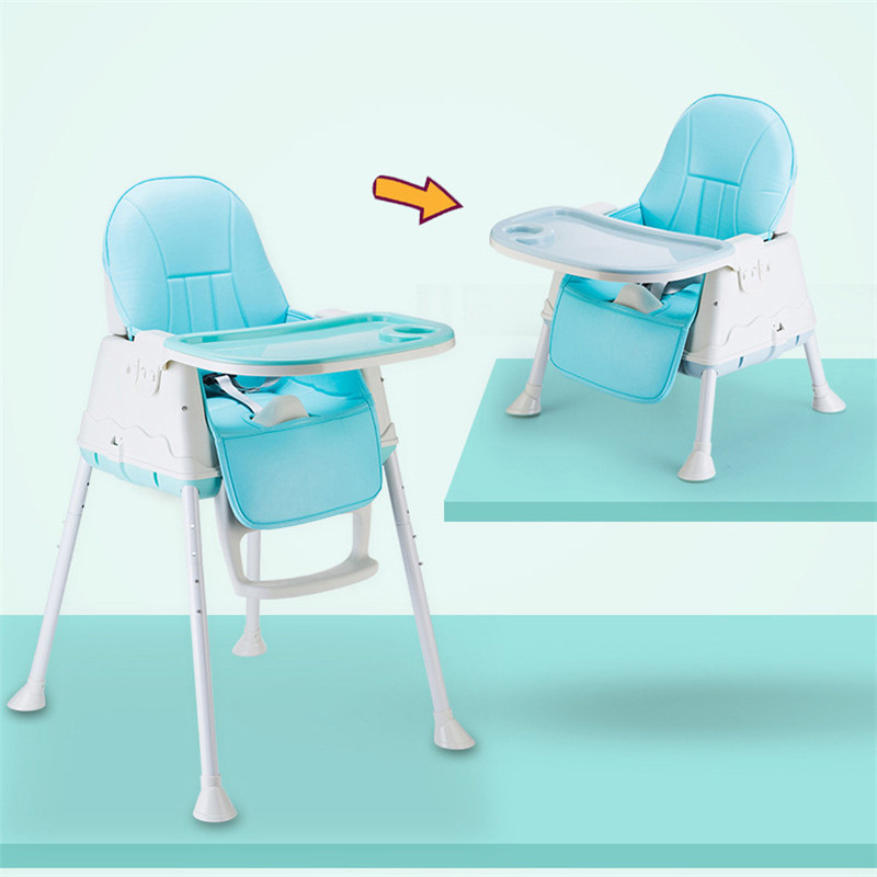 Multifunctional Adjustable Baby Kids Safety Upgrade Baby Chair Children's Folding Portable Dining Table Chair High Booster Seats