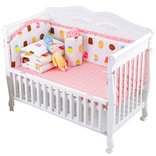 6Pcs/Pack Baby Bed Bumper Infant Bed Cot Bumpers Bed Protector Safe Baby Crib Protector Cushion Toddler Nursery Bedding Sets promotion 6pcs baby set crib baby bedding sets for cot 100