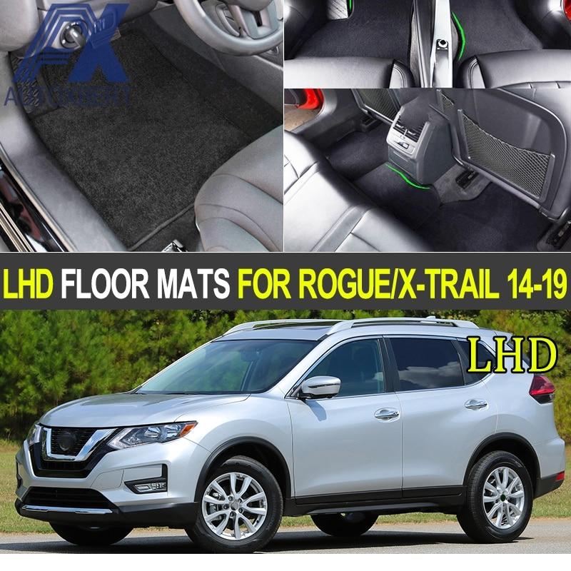 4pcs Car Floor Mat Mats For Nissan Rogue X Trail Xtrail T32 2014 2019 Nylon Carpet