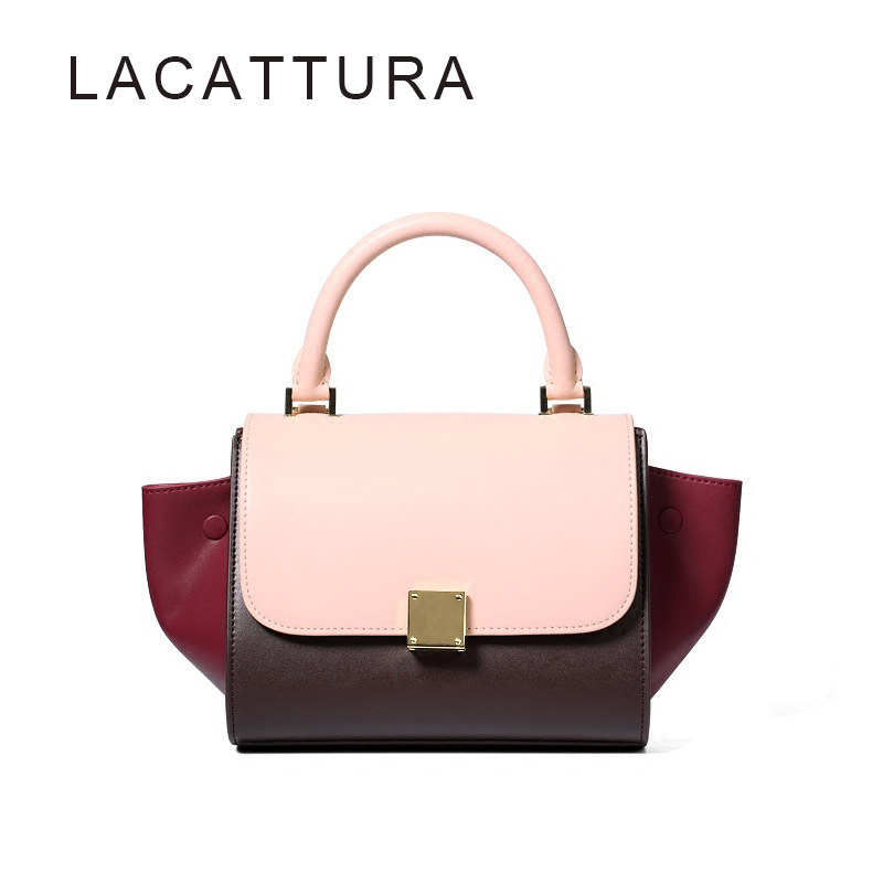 ФОТО Hot Selling New Ladies fashion Bag  Celing Trapeze  Shoulder Bags  Patchwork Tote Mix Color Cow Leather Bag