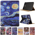 Fashion Starry Sky Oil Painting For Samsung Galaxy Tab A A6 10.1 P580 P585 (Not T580 ) Vintage Art Painted Pattern Tablet Case