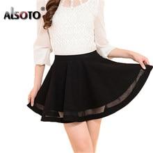 57821e6ca46ce Popular Short Pleated Black Skirt-Buy Cheap Short Pleated Black ...