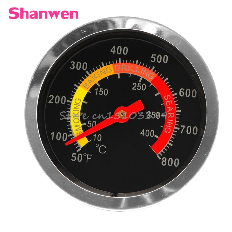 Stainless Steel BBQ Smoker Grill Thermometer Temperature Gauge 50-800 Degrees Fahrenheit 10-400 Degrees Celsius G25 earth star high quality 50 500 degree roast barbecue bbq smoker grill thermometer temp gauge new arrival 2