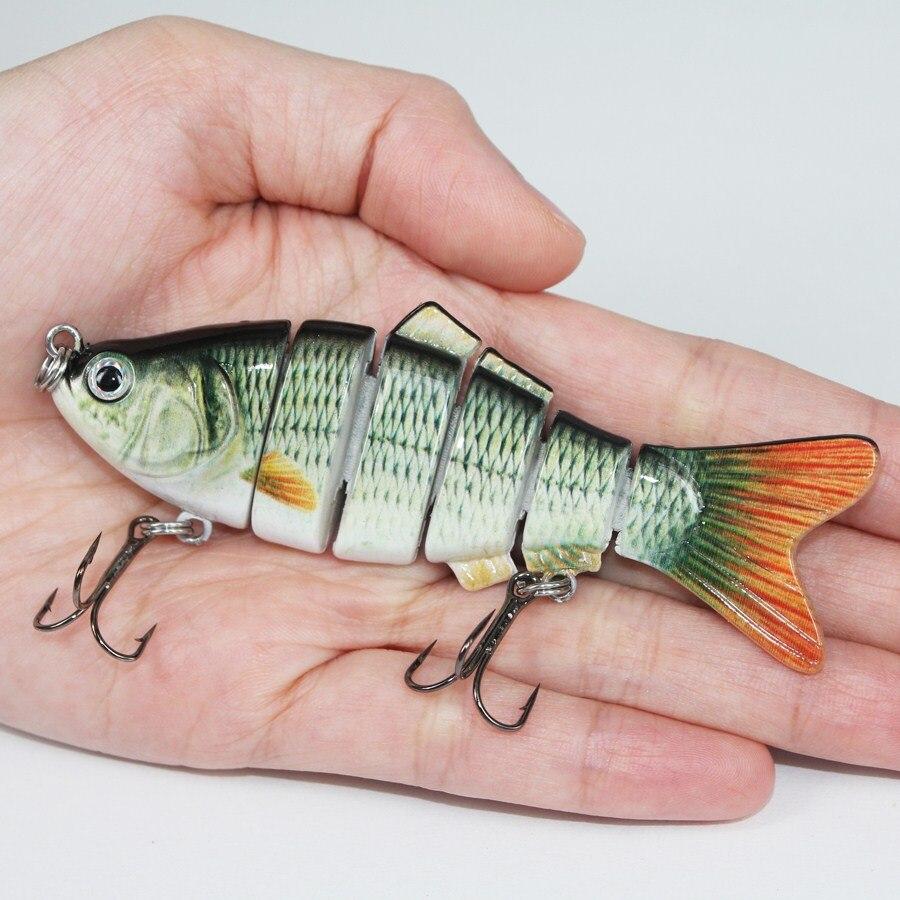 Приманка на рыбалку, 6 сегментов, приманка воблер, жесткая, медленная, 18 гр., 10 см. с 6#, крючок для рыболовной удочки
