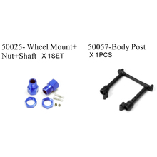 HSP RACING SPARE PARTS 50025 WHEEL MOUNT NUT SHAFT AND 50057 BODY POST FOR 1/5 OFF ROAD BUGGY MONSTER TRUCK 94059, 94050