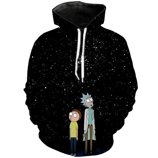 Camiseta De Rick and Morty Hoodies By jml2 Art 3D Unisex Sweatshirt Men Brand Hoodie Casual Tracksuit Pullover Anime Hoodie 1