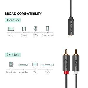 Image 2 - Ugreen kabel RCA 2 RCA męski na żeński 3.5mm Jack Adapter kabel Audio kabel Aux dla iPhone Edifer kina domowego DVD VCD słuchawki