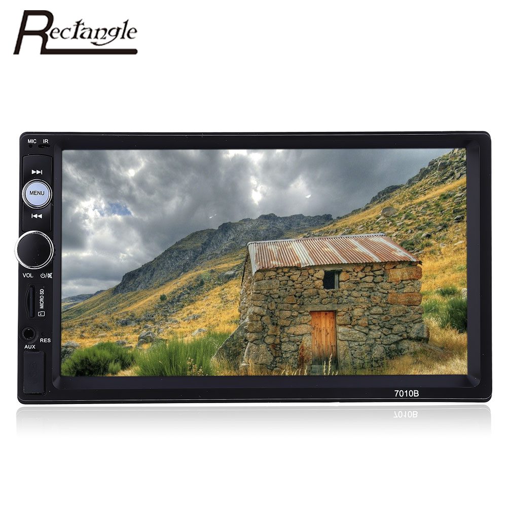 ФОТО Rectangle 2 Din Car Radio MP5 Player 7''  Touch Screen Bluetooth FM Audio Video Auto Radio For Car With Remote Control