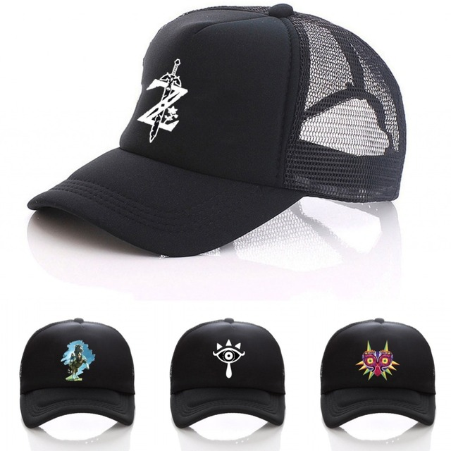 uk availability 50c6d 9f57c Game The Legend of Zelda  Majora s Mask hat link cosplay women men Snapback  adjusted Black Baseball Caps boy girls Sun cap
