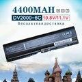 Bateria do portátil 4400 mah para hp compaq presario v3000 v6000 g7000 a900 c700 f500 f700 para pavilion dv6000