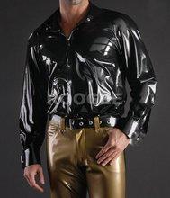 New arrival !!! Men's latex shirt
