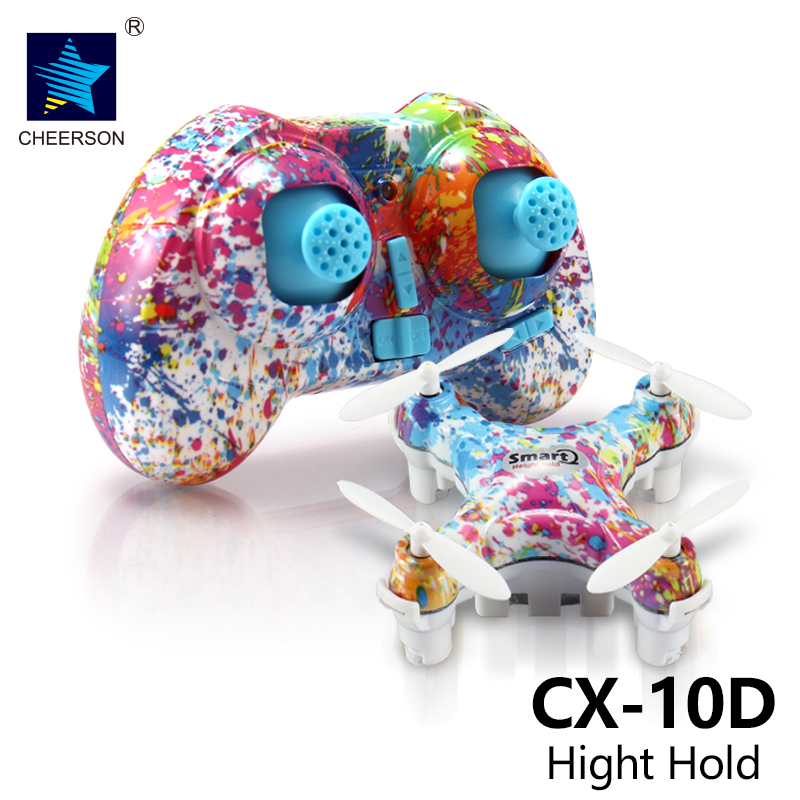 Cheerson CX-10D CX10D Mini 2.4G 4-axis with High Hold Mode LED RC Quadcopter toys hobbies