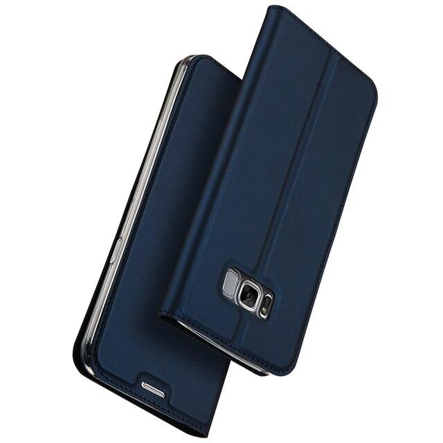 Luxe Lederen Flip Case Voor Samsung Galaxy S8 Case Plus Samsung S8 Case Beschermende Portemonnee
