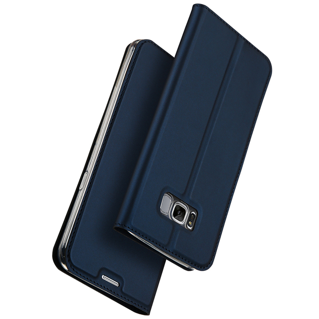 best service 976c3 c0b0a US $8.99 30% OFF|Luxury Leather Flip Case For Samsung Galaxy S8 Case Plus  Samsung S8 Case Protective Wallet Phone Cover for Galaxy S8 Plus Coque-in  ...