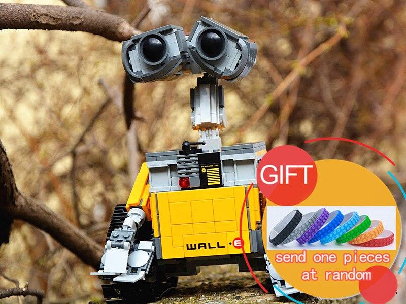 16003 687pcs Idea Robot WALL E Building Set Kits Bricks Blocks Compatible with 21303 lepin new 687pcs lepin 16003 ideas series wall e lovable robot wall e building block minifigures with legoe 21303 toy kids boy