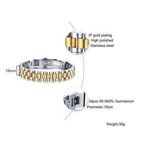 Image 5 - ZORCVENS 99.999% czysta bransoletka z germanu dla kobiet Korea popularne zdrowie magnetyczne germanu energii ze stali nierdzewnej biżuteria