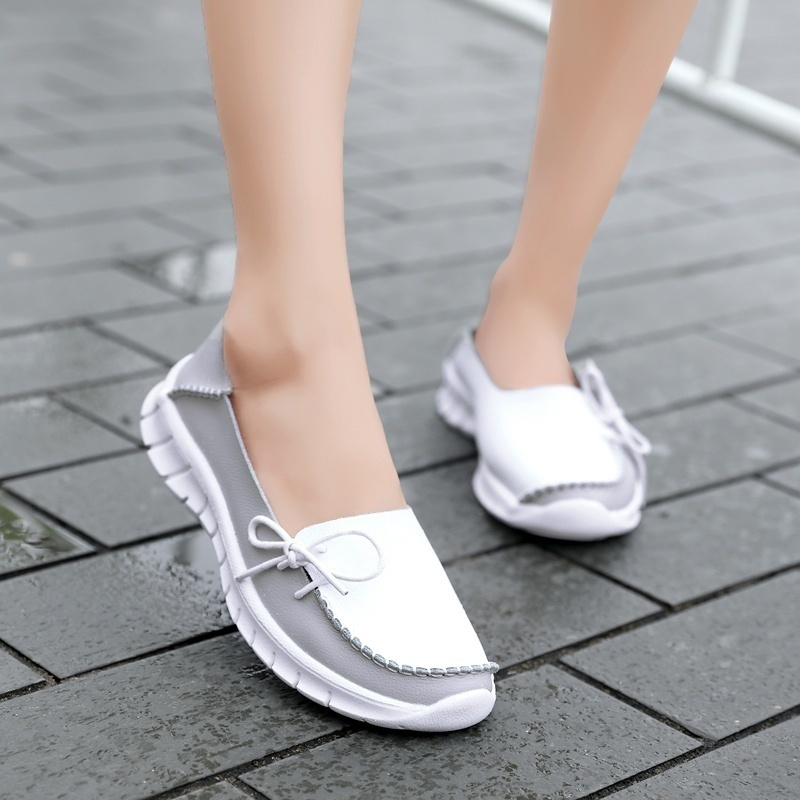 Spring New Style Women 39 s Casual Genuine Leather Shoes Woman Loafers Slip On Female Flats Moccasins Ladies Driving Shoe in Women 39 s Flats from Shoes