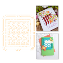 YaMinSanNiO Octagon Background Metal Cutting Dies Scrapbooking For Card Making Decor Album Embossing  Decorative Pattern Frame
