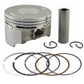 Motorcycle Engine Parts +25 Cylinder Bore Size 73.25mm Pistons & Rings Kit For Suzuki DR250 DR 250 1990-1995 Piston Ring