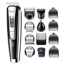 5в1 профессиональный триммер для волос Водонепроницаемая машинка для стрижки волос триммер для бороды Мужская электрическая машинка для стрижки волос стрижка лица