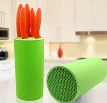 Цилиндрический фрукты инструмент держатель ножа блок Multifunctiona пластик стеллаж для хранения полка кулинария инструмент нож Кухонные принадлежности