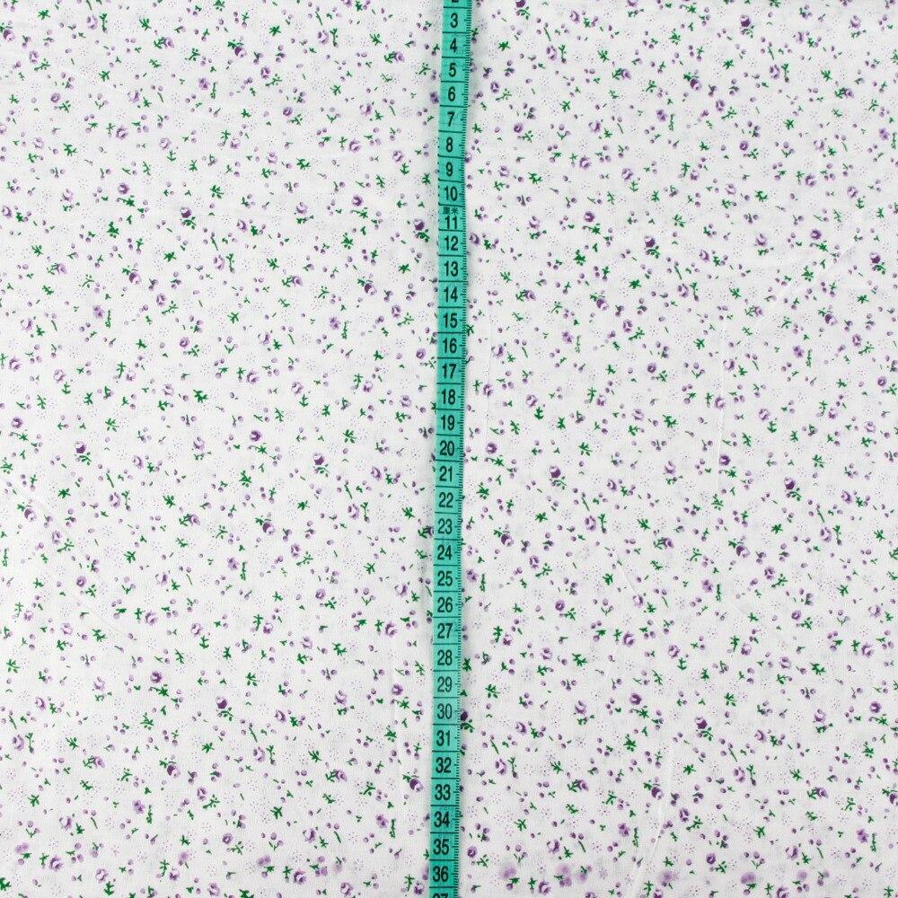 05 Metro Larghezza 156 Cm Sfondo Bianco Viola Stampa Floreale In