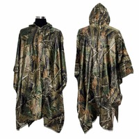 VILEAD Polyester Realtree Maple Camo Men Women Raincoat Poncho Waterproof Tent Mat For Motorcycle Hunting Fishing Camping Hiking