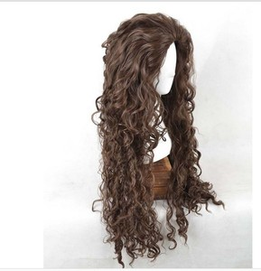 Image 4 - Movie Film Character Bellatrix Lestrange Cosplay Wig Long Brown Curly Heat Resistant Synthetic Hair Costume Wigs + Wig Cap