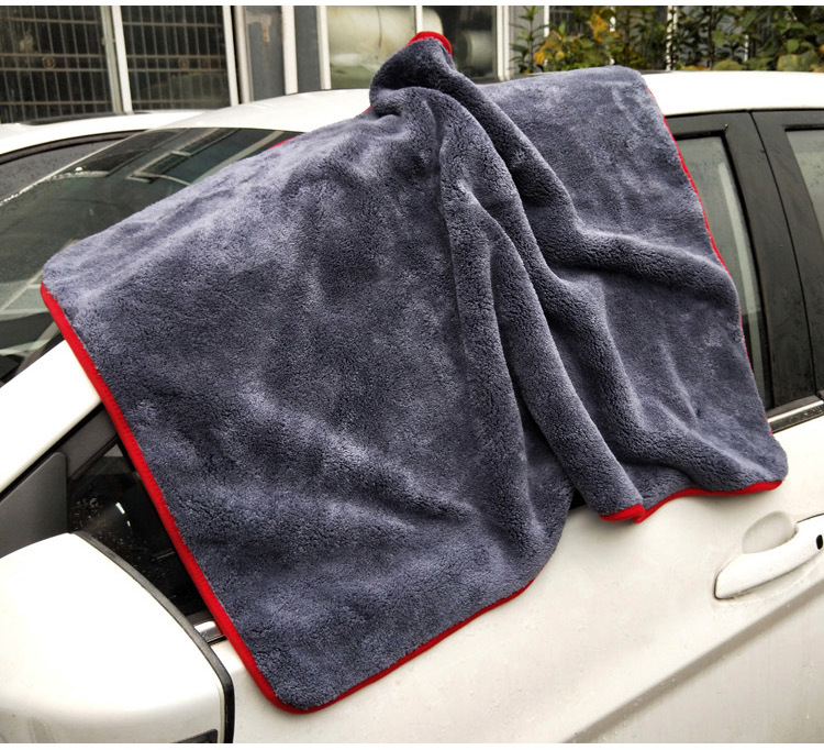 Microfibre épaisse longue serviette de lavage de voiture nettoyage automatique Duster polissage cirage chiffon de fenêtre vêtements de soin de voiture voiture sèche velours serviette X10