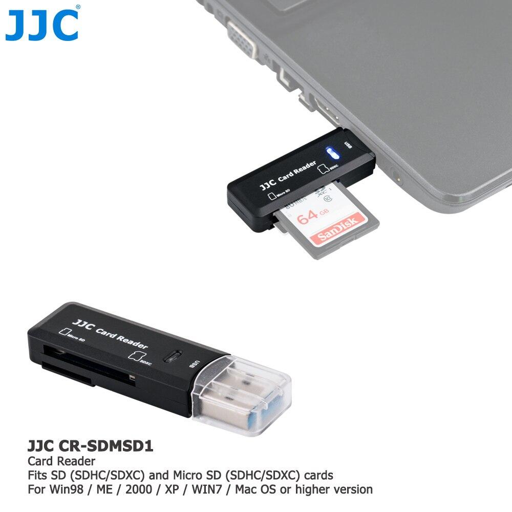 JJC 5 5gbps USB 3.0 Leitor de Cartão de Memória Da Câmera SD/Micro SD/TF/SDHC/SDXC Leitores para Win98/ME/2000/XP/WIN7/Mac os