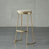 45 см/65 см/75 см Nordic барный стул барный Творческий кофе стул золото высокого стула простые стул кованого железа