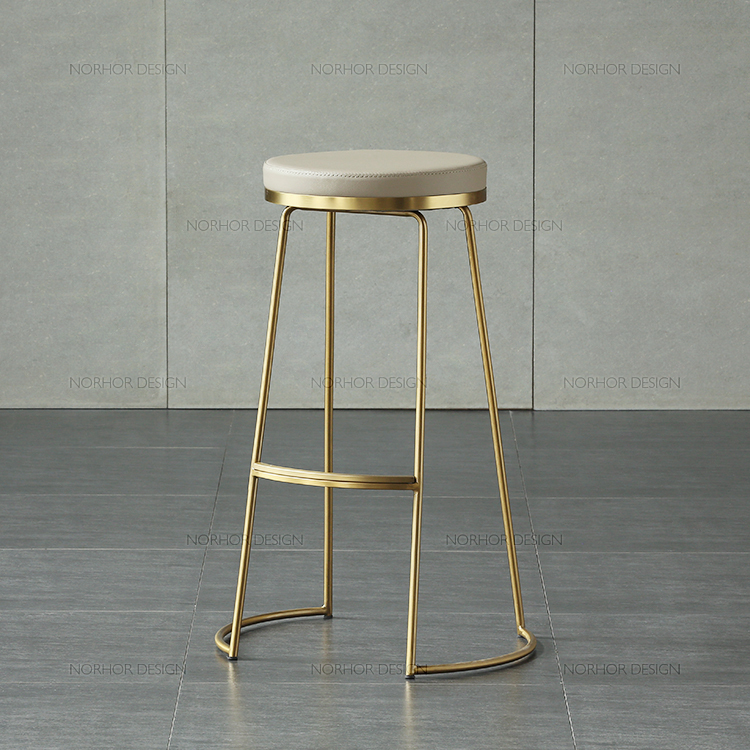 45 cm / 65 cm / 75 cm Nordic bar stool bar chair creative coffee chair gold high stool simple dining chair wrought iron цены онлайн