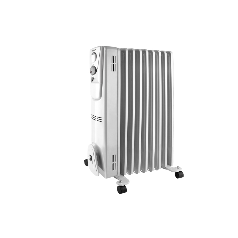 Heater oil Vitek VT-2127 (W) (Power 2000 W, 9 sections, heating area up to 15 sq. M, overheating protection) heater oil resanta омпт 7н power 1500 w 7 sections adjustment heating