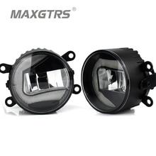 2x 3.5 inch 89mm Newest High Power Universal LED Fog Light Bulb Lamp Car Daytime Running Lights U Shape DRL COB Car-styling
