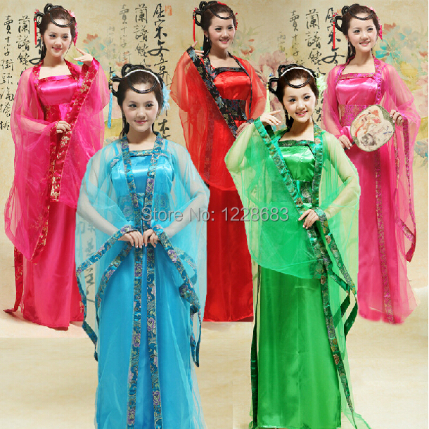 Hot Sale 9 Colors Traditional Chinese Beautiful Dance Hanfu Dress Chinese Dynasty Costume Ancient Chinese Costume